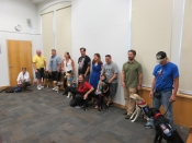 Dog and Veteran teams train and graduate the Delta Dog Program together.